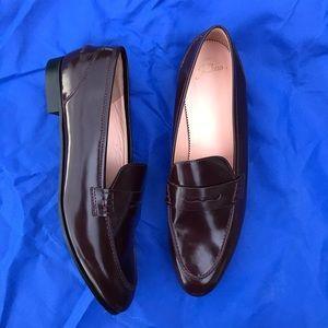 JCrew Women Penny Leather Loafers Dress Shoes